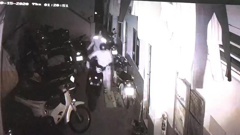 Nhóm trộm đột nhập dãy trọ 'cuỗm' nhiều xe máy