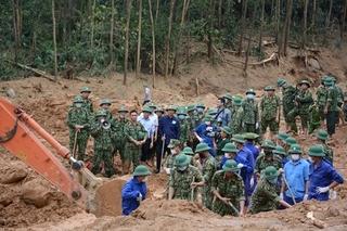 Tìm thấy 13 thi thể cán bộ, chiến sĩ bị sạt lở vùi lấp tại Tiểu khu 67