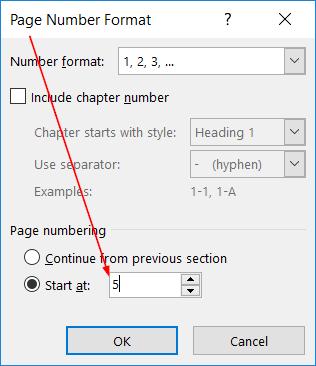Cách đánh số trang 2