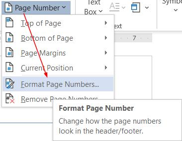 Cách đánh số trang