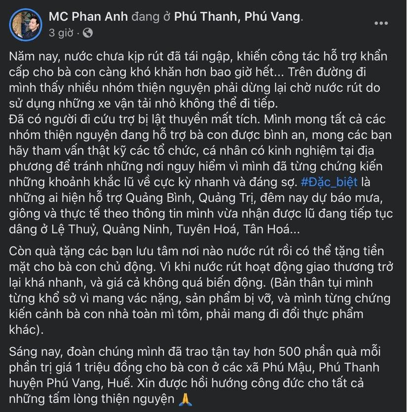 Liên tục bị réo tên trong việc từ thiện, MC Phan Anh đã có động thái đầu tiên