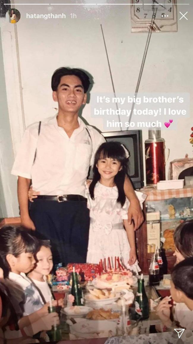 Tăng Thanh Hà khoe hình ảnh còn bé chụp cùng anh trai