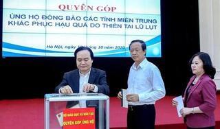 Bộ GDĐT phát động quyên góp ủng hộ đồng bào các tỉnh miền Trung