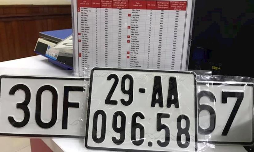 Chia biển số xe thành năm nhóm để đấu giá trực tuyến