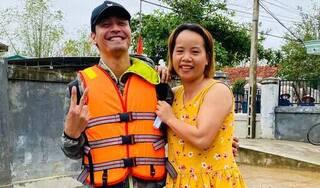 Bị gọi là 'MC lũ', Phan Anh vẫn miệt mài cứu trợ miền Trung