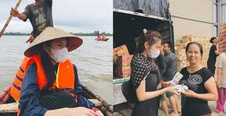 Đá xéo Thủy Tiên đeo túi, choàng khăn hàng hiệu đi từ thiện, nữ MC bị chỉ trích gay gắt
