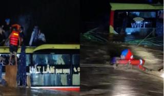 Khen ngợi lực lượng công an giải cứu 18 người trên xe khách bị lũ cuốn