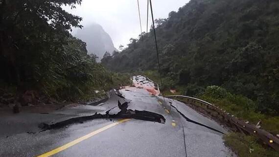 Bộ đội thoát nạn trong gang tấc khi đồn biên phòng quốc tế Cha Lo bị lún sụt