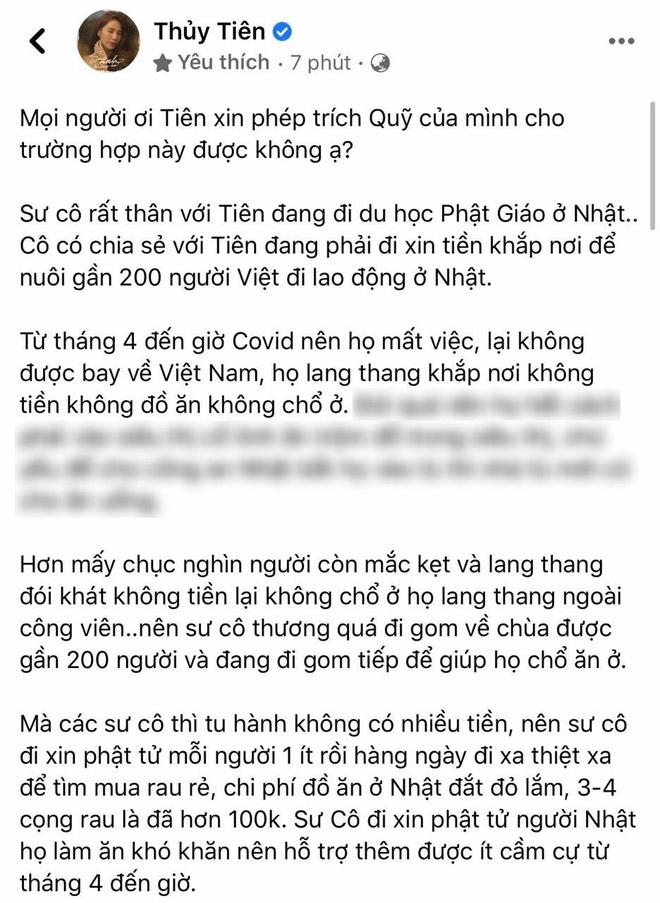 Xin trích quỹ ủng hộ miền Trung để giúp người lao động Việt Nam ở Nhật, Thủy Tiên bị netizen phản đối