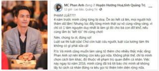 MC Phan Anh nói gì khi nhiều người lo lắng cho Thủy Tiên?