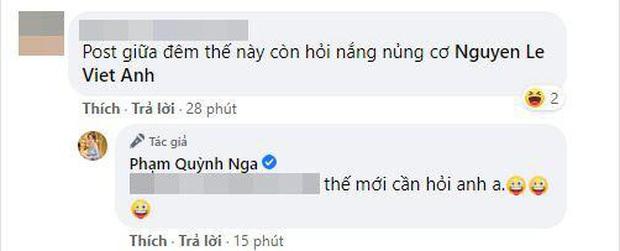 Quỳnh Nga đăng ảnh diện nội y với vòng 1 khủng, Việt Anh lập tức bị réo tên