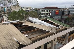 Ngành giáo dục Đà Nẵng, Quảng Nam, Quảng Ngãi thiệt hại nặng sau bão số 9