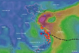 Sau bão số 9, mưa lớn ở các tỉnh từ Thanh Hóa đến Bắc Tây Nguyên