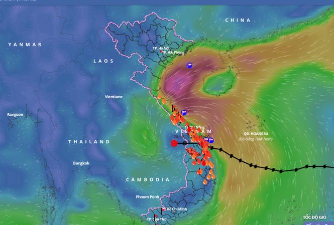 Bão số 9 sang Lào nhưng mưa lớn ở các tỉnh từ Thanh Hóa đến Bắc Tây Nguyên