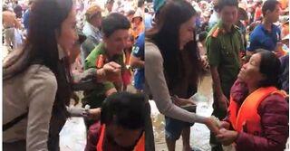 Hành động 'đặc biệt' của Thủy Tiên với người phụ nữ nghèo khiến ai cũng cảm phục