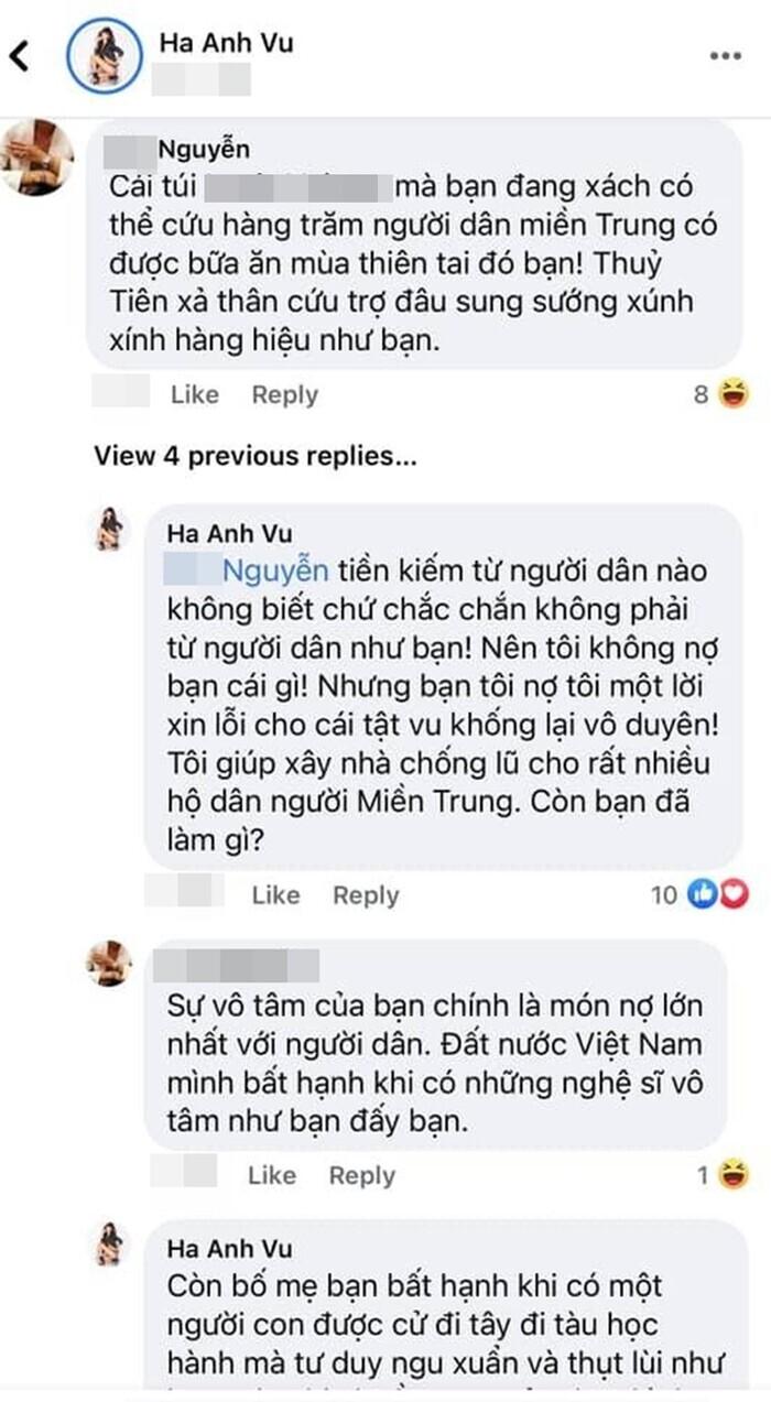 Bị mỉa mai check in sang chảnh mà không giúp miền Trung, Hà Anh đáp trả cực gắt