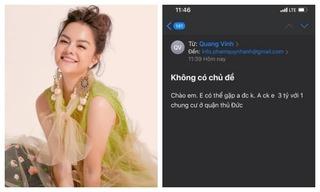 Phạm Quỳnh Anh bức xúc khi bị 'gạ tình' 3 tỷ đồng và 1 căn chung cư