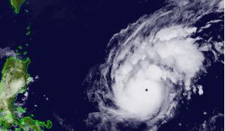 Goni thành siêu bão mạnh nhất năm 2020, sức gió gần 290 km/h