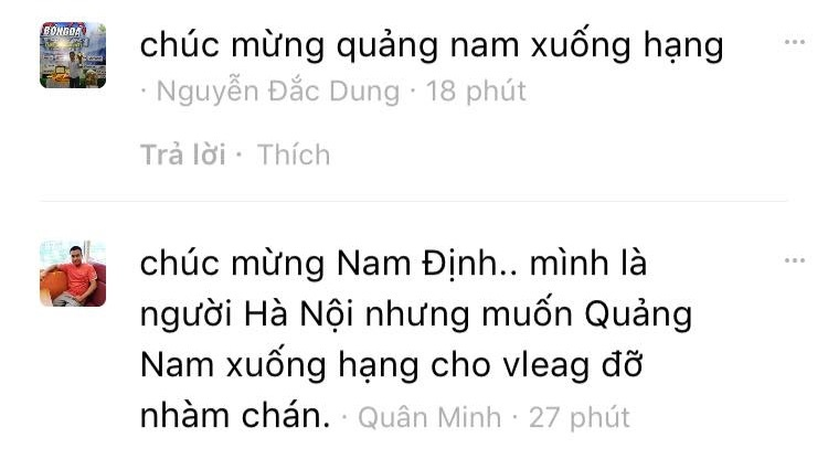 Cổ động viên cả nước chúc mừng Nam Định