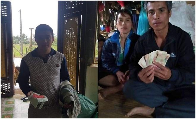 Dân vùng lũ trả lại vàng bạc, tiền mặt quên trong quần áo cứu trợ