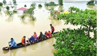 Học sinh một số địa phương ở Khánh Hoà tiếp tục nghỉ học do ngập lụt