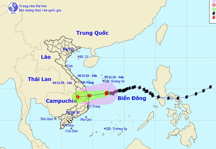 Bão số 10 làm các tỉnh từ Quảng Nam đến Bình Định có mưa vừa, mưa to