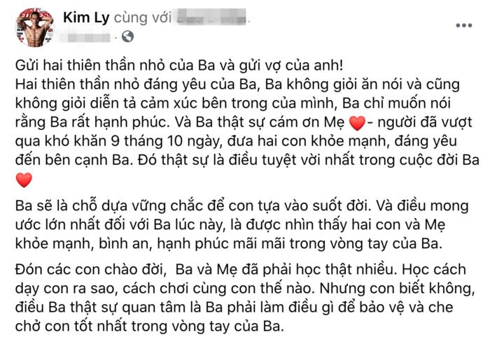 Kim Lý viết tâm thư cảm ơn Hà Hồ sau khi được lên chứ bố