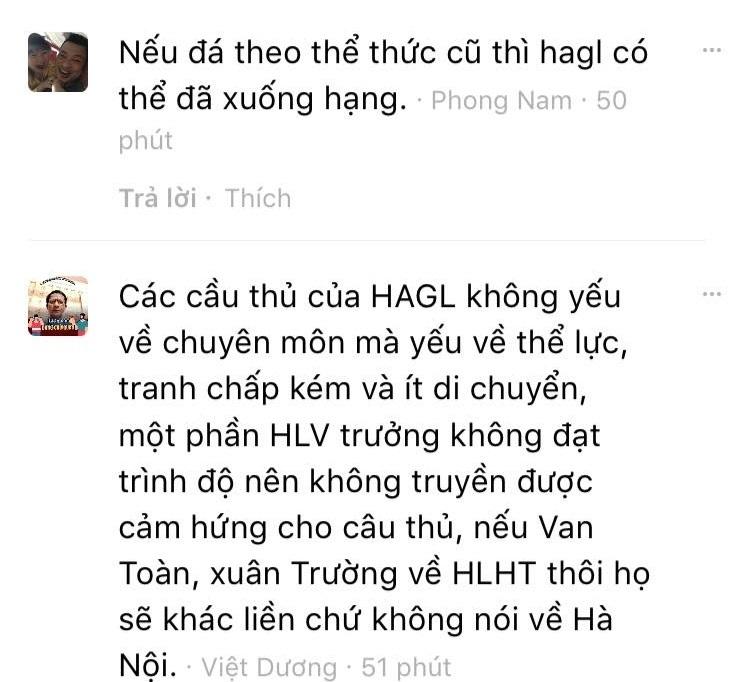 CLB HAGL nên mời ông Lê Thụy Hải về dẫn dắt