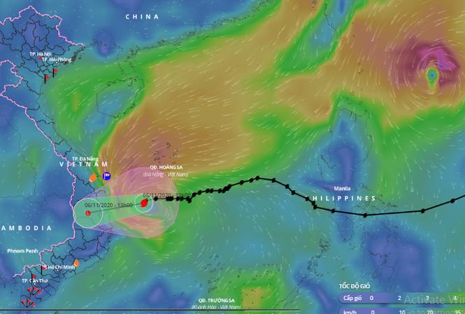 Bão số 10 sẽ đổ bộ các tỉnh từ Quảng Ngãi đến Phú Yên trong sáng mai