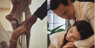 Khoảnh khắc Kim Lý nắm tay Hồ Ngọc Hà đưa tới tận cửa phòng sinh gây sốt