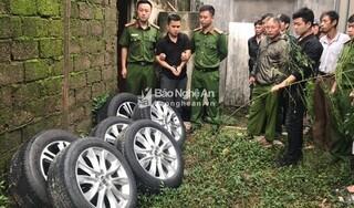 Đã bắt được kẻ gây ra hàng loạt vụ trộm bánh xe ô tô ở Nghệ An