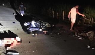 Hòa Bình: 2 xe máy đối đầu trong đêm, 4 người thương vong