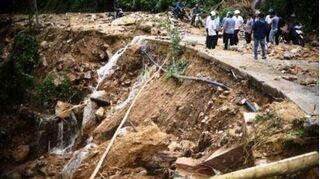 Cận cảnh sạt lở 'hiếm thấy' tàn phá miền núi Bình Định