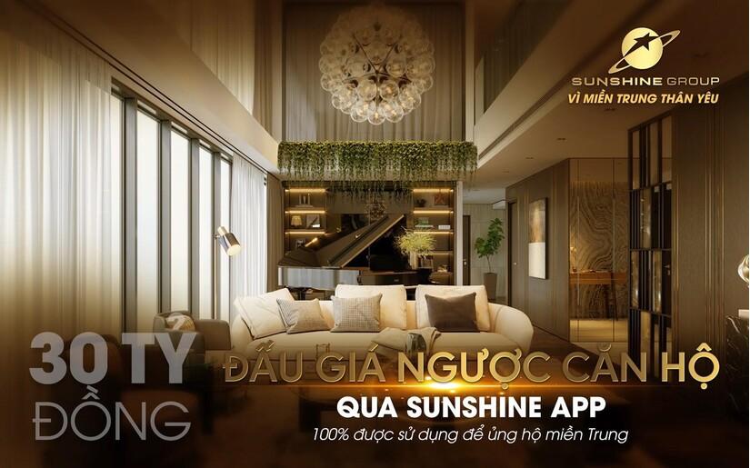 Đấu giá từ thiện qua Sunshine App - Sunshine Group ủng hộ 30 tỷ 'Vì miền Trung thân yêu'
