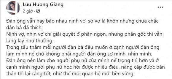 Bị đồn rạn nứt với Hồ Hoài Anh, Lưu Hương Giang lên tiếng giải thích