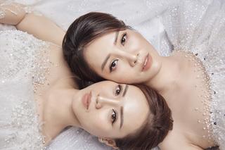 Bạn gái NSND Công Lý diện váy cưới, được Á hậu Thụy Vân tư vấn tình cảm