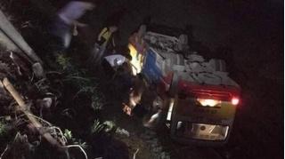 Tin tức tai nạn giao thông ngày 10/11: Xe buýt lật ngửa dưới ruộng vì đâm phải trâu