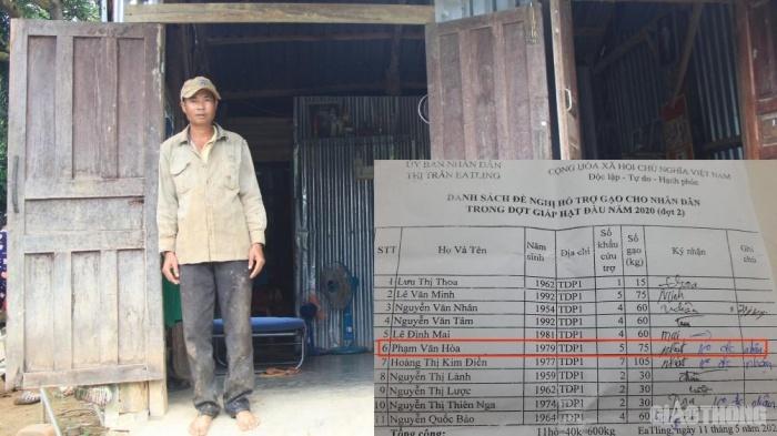 Bãi nhiệm Tổ trưởng tổ dân phố giả chữ ký, bớt xén gạo cứu đói của người dân