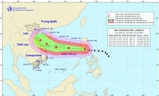 Bão Vamco chuẩn bị đi vào Biển Đông, trở thành cơn bão số 13