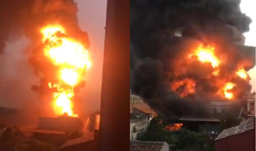 Xưởng gỗ ở Nam Định cháy lớn, nhiều tài sản bị thiêu rụi