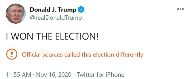 Tổng thống Trump tuyên bố 'đã giành chiến thắng bầu cử' trên Twitter
