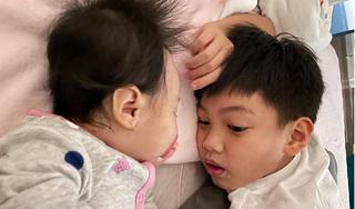 Cường Đô La hạnh phúc khoe ảnh Subeo ru em gái ngủ