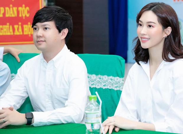 Đăng ảnh cận mặt quý tử, Hoa hậu Đặng Thu Thảo vẫn không quên nịnh chồng