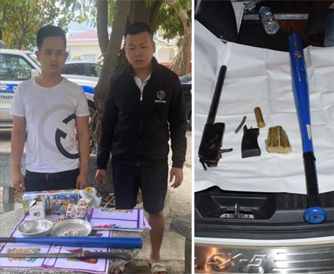 Bắt giữ hai đối tượng mang theo súng, lái ô tô chống đối CSGT