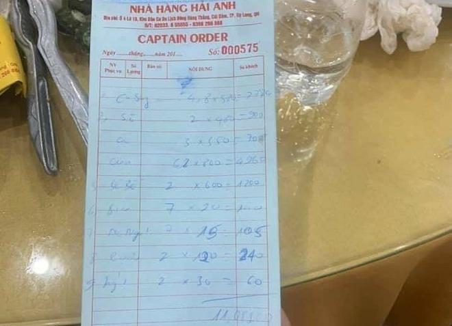 Nhà hàng hải sản ở Quảng Ninh bị tố 'chặt chém'