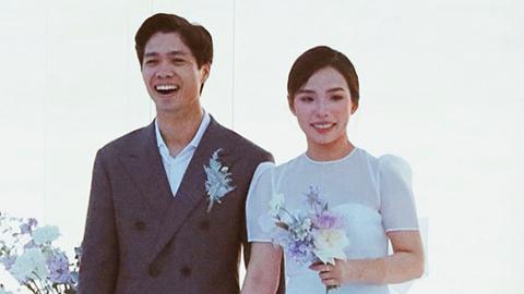 Nhắn nhủ mộc mạc của Công Phượng với Viên Minh ở đám cưới tại Phú Quốc