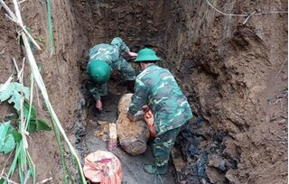 Hòa Bình hủy nổ quả bom gần 300kg, sức sát thương trong vòng 2km
