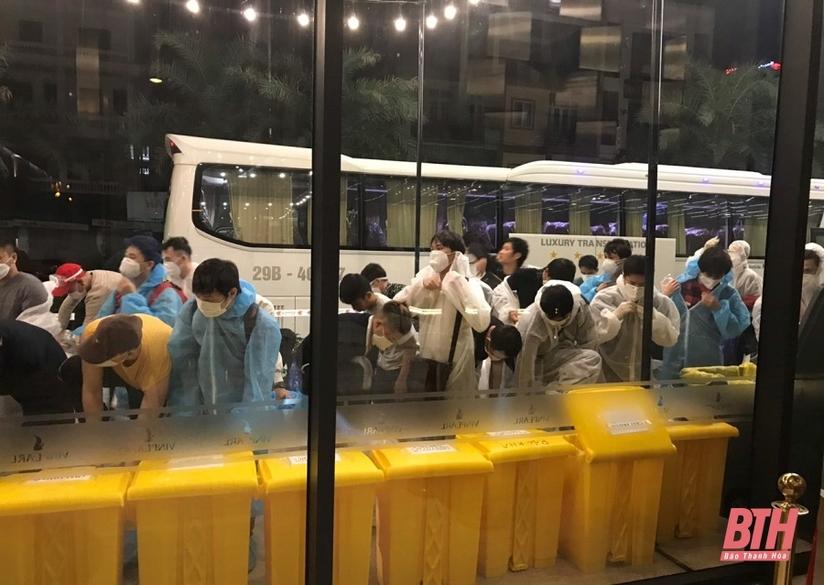 Thanh Hóa tiếp nhận, cách ly 213 công dân Việt Nam từ Nhật Bản về nước