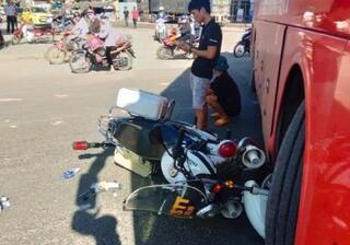 Vụ xe khách tông xe Cảnh sát trật tự ở Kon Tum: Clip đưa lên mạng đã bị cắt xén