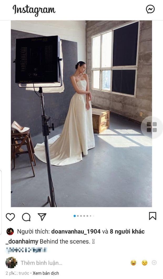 Bạn gái tin đồn Đoàn Văn Hậu bất ngờ tung ảnh mặc váy cưới khiến dân tình rần rần
